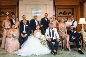 Bridal party in the Jasmine Bar
